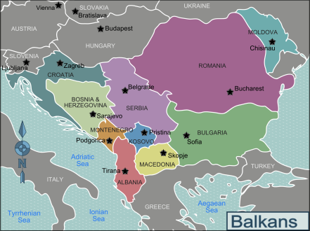 David McTier's map of the Balkans