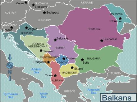 David McTier's map of the Balkans